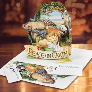 Peaceable Kingdom Pop Up Christmas Card Graphics 3