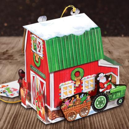 Santas Barn Holiday Christmas Card - Back