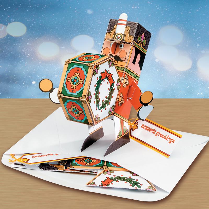 Christmas Drummer Boy.Drummer Boy Pop Up Christmas Card Ornament