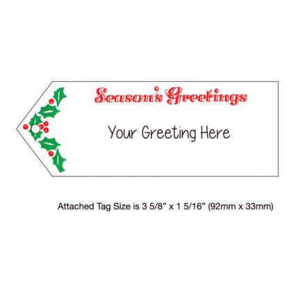Gramophone Holiday Christmas Card Sentiment Tag