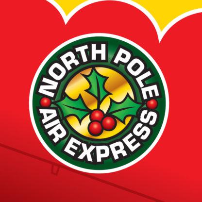 Santa Airplane Biplane Pop Up Christmas Card - North Pole Air Express