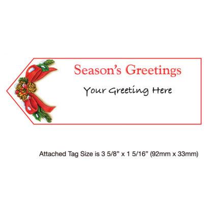 Sentiment Tag - Cardinal Birdhouse - Holiday Greeting