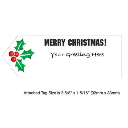 Sentiment Tag - Santa Airplane - Holiday Greeting