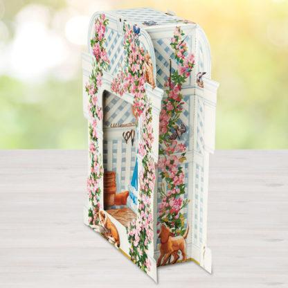 Rose Garden Trellis Pop Up Greeting Card - Side View 2