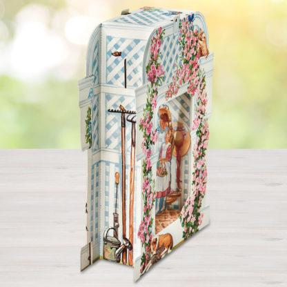 Rose Garden Trellis Pop Up Greeting Card - Side View