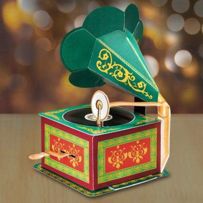 Gramphone Megaphone Pop-up Holiday Greeting Card